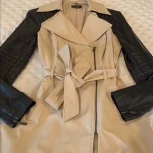 Bebe fit and flare peacoat
